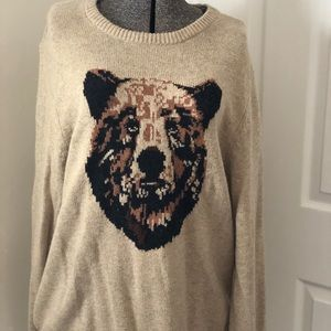 Men's Old Navy Grizzly Bear Sweater